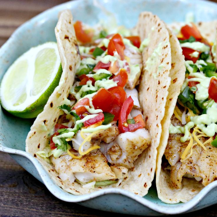 Cajun fish tacos have the perfect balance of creamy and spicy, topped with avocado cilantro sauce and a tomato-jalapeno salsa.  Fish tacos are all the rage these days, it seems. You can find them all over the internet, in all types of restaurants, and in many home kitchens. We love fish.  And my outdoorsy husband loves …