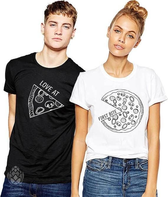 459a0b18e8 Couples t-shirts set PIZZA Matching couple shirts LOVE Tops - Matching set  Royalty Couple shirts. T-shirts are BLANK on their back.
