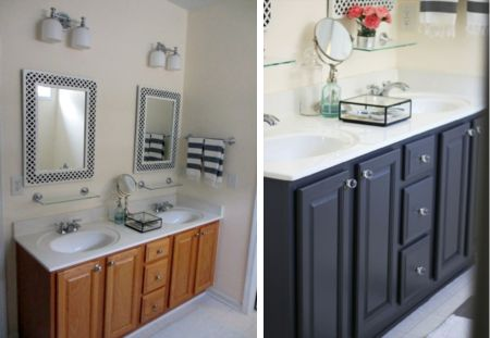 Bathroom Vanity Before And After Benjamin Moore Eclipse