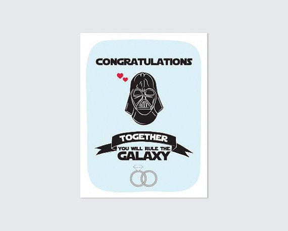 Star Wars Wedding Card Printable // by RememberNovemberShop, $2.00