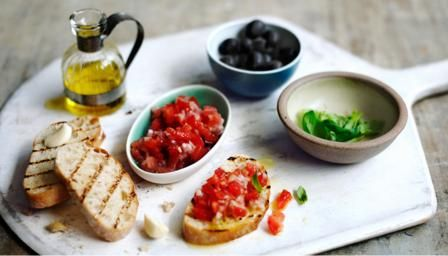 Hugh Fearnley-Whittingstall counts the ways to enjoy this classic Italian treat. Use tomatoes at the peak of ripeness.