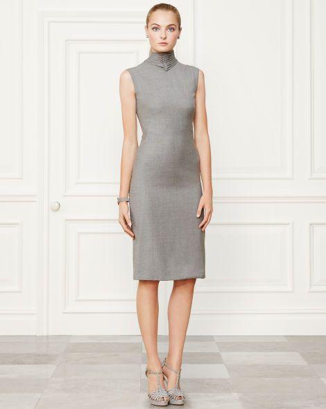 Wool Leanna Dress - Collection Apparel Evening Dresses - RalphLauren.com