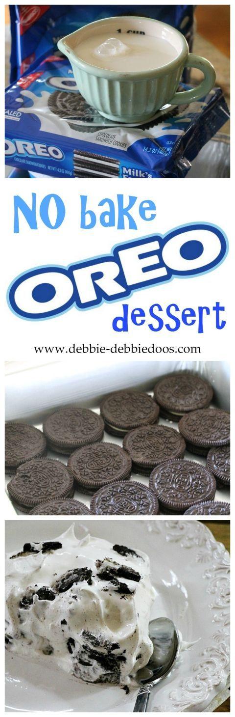 No-bake Oreo Dessert Recipe. This is so easy & my family enjoys it!