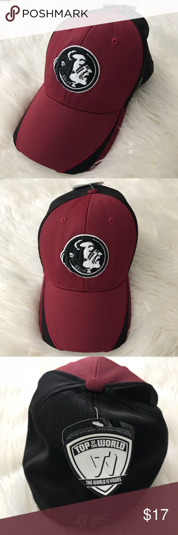 NWT FSU Baseball Hat Brand new with tags FSU baseball hat! Perfect for any Florida State fan! It is fitted but stretchy and one size fits most! Can be worn by both men and women. Accessories Hats