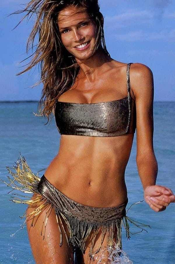 "This slideshow features photos of a gorgeous, young Heidi Klum as a younger girl. These include pictures of Klum before she had her flowing blonde hair, sporting a more natural look with curlier hair. She is known as one of the most successful ""Sports Illustrated"" and ""Victoria's Secret"" mode..."