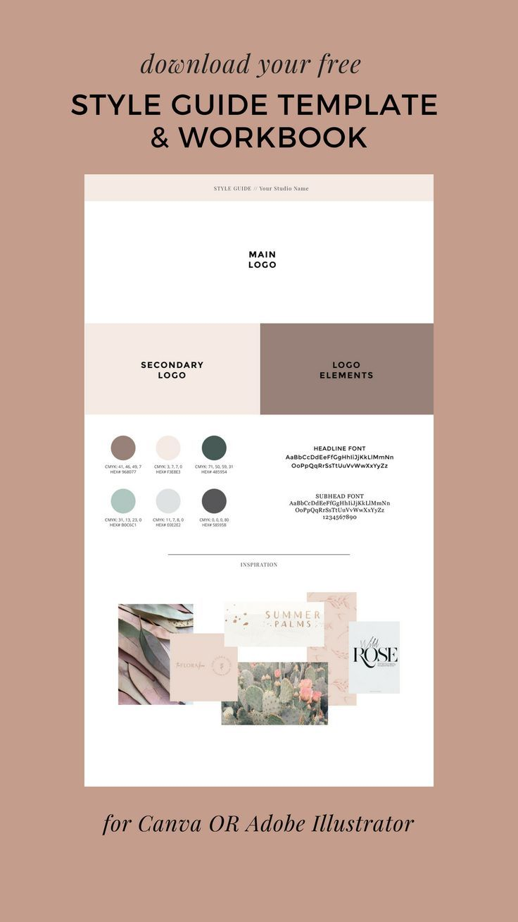 Six Easy Steps To Find Your Brand Style Plus A Free Guide Template Oregon Lane Studio Branding And Web Design