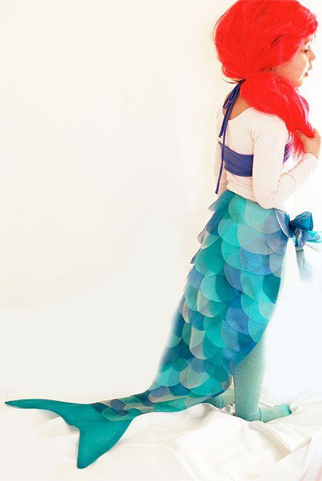 Das Meerjungfrauenkostüm ist ein kleiner Traum aus Organza