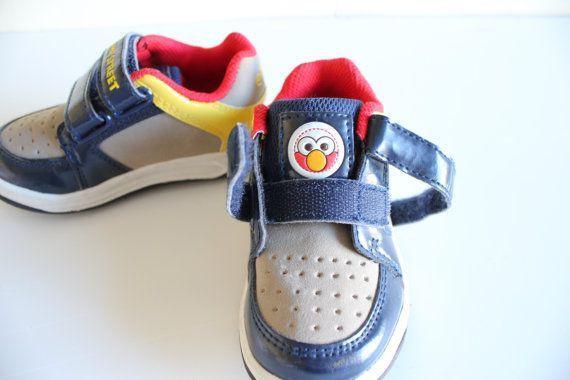 Elmo Sneaker Toddler Sneakers Elmo Sesame Steet by Amilialia
