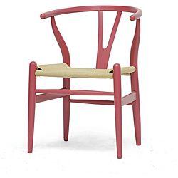 Pink Wishbone Chair
