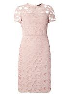 Womens Premium Pink Lace Pencil Dress- Blush