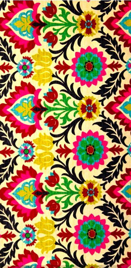 Floral stripe design