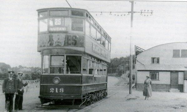 lucan trams | Tram in Lucan 1938 | Dublin Old Times | Pinterest