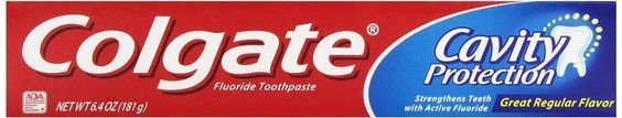 Colgate Cavity Protection Fluoride Toothpaste, Regular Flavor , 6.4 oz Pack of 6 * Visit the image link more details.