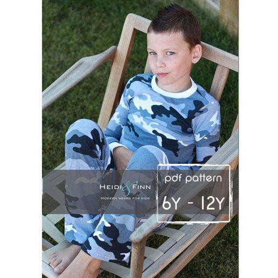 Jammies Pyjamas # Größe 6-12 Jahre # von Heidi & Finn