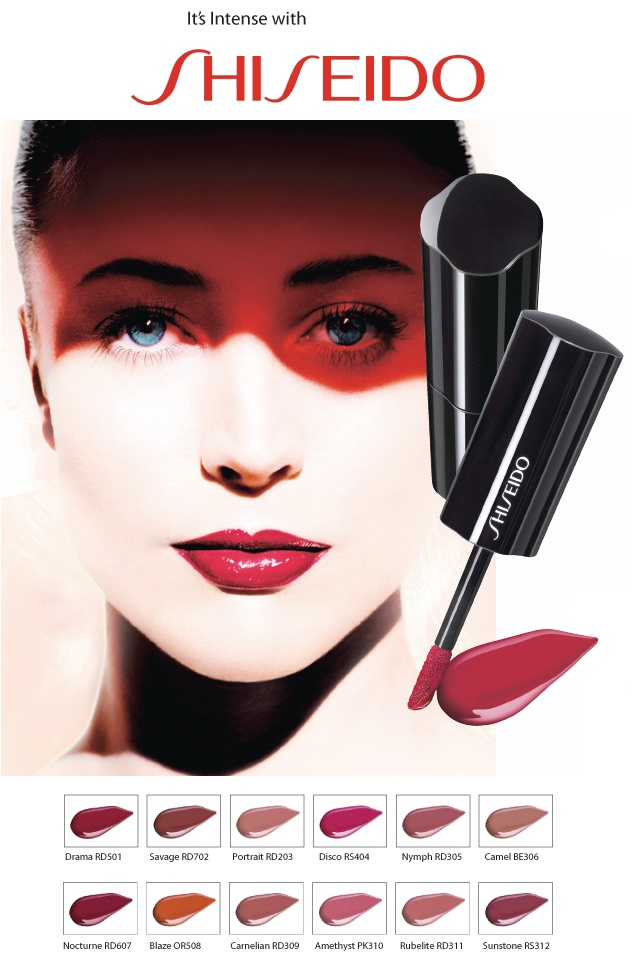 The new Shiseido Lacquer Rouge Model : Raquel Zimmermann