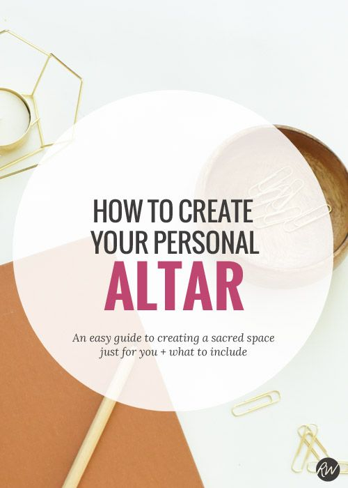 Personal altars are a great tool to set up a sacred space to help your spiritual practice and dedication to being more mindful. Here is a quick and easy guide to setting up yours! | Rogue Wood Supply