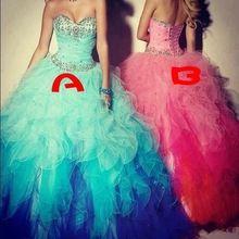 Vestidos De 15 Anos Vestidos Quinceanera 2015 imagem real Organza camadas longo baratos Quinceanera Vestidos vestido para 15 Anos(China (Mainland))