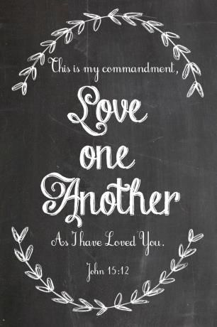 This is my commandment, THAT YOU love one another as I have loved you.