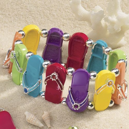 Colorful flip flops bracelet.