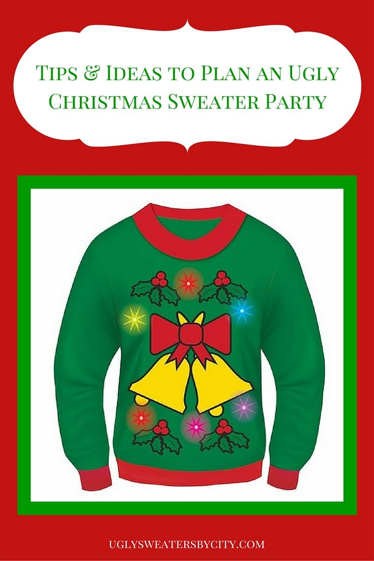 here are tips and ideas on how to plan an ugly christmas sweater party yourself and sources for sweaters you will laugh a lot at your xmas sweater party