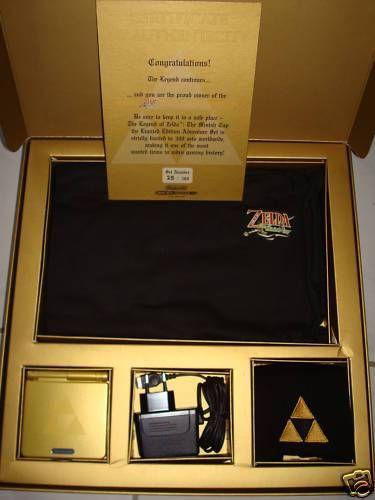 Edição de Colecionador - Todas as edições de Zelda - Collector's Edition Limited Design - game boy advance sp minish cap shigeru