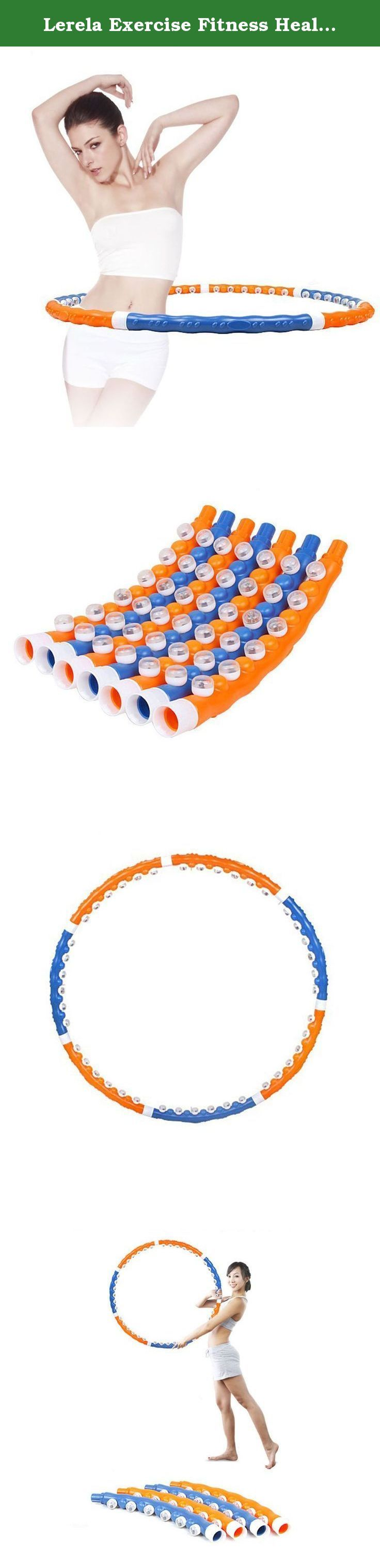 Lerela Exercise Fitness Health Magnetic Hula Hoop Massage Ball Weighted Hula Hoops 1.1kg 2.4lb. Great for adults who want to lose and tone their abdominal area Diamter: 38.5 inch, weight 1.1 kg Maximizes weight loss and improves workout results Easy to assemble and disassemble, 7 detachable sections for easy storage and transport Great way to have fun and adopt a healthy lifestyle .