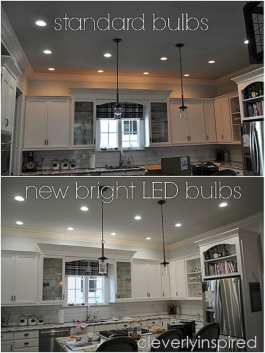 Tired of your yellow incandescent lighting update to energy efficient led lighting to brighten up