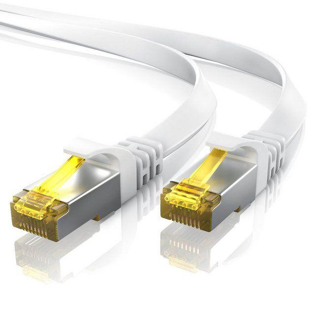 Flachband Netzwerkkabel »mehrfach geschirmtes U/FTP Gigabit LAN-Kabel«