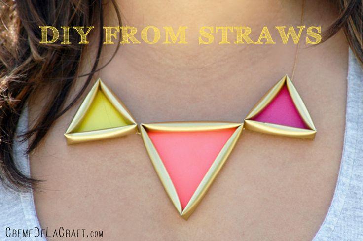 Crème de la Craft | DIY neon necklace: Drinks Straws, Dollar Stores Crafts, Diy'S Necklaces, Neon Necklaces, 80S Party, Diy'S Projects, Crafts Jewelry, Straws Necklaces, Diy'S Jewelry