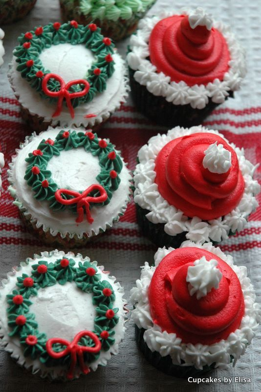 Christmas cupcakes. So cute.