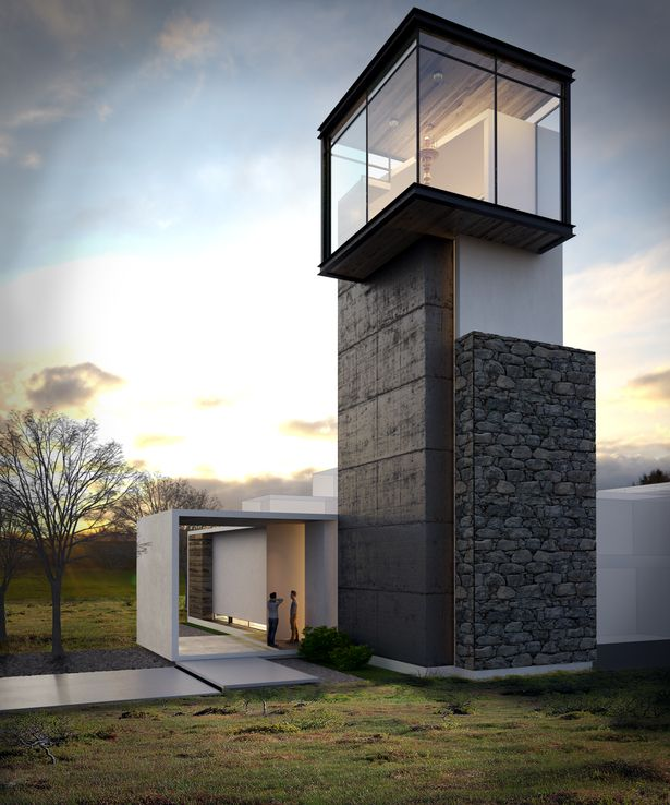 I love the idea of a lookout area in a home! Maybe with views to some nice scenery? Chapel LIghthouse | Orlando Solano | Archinect
