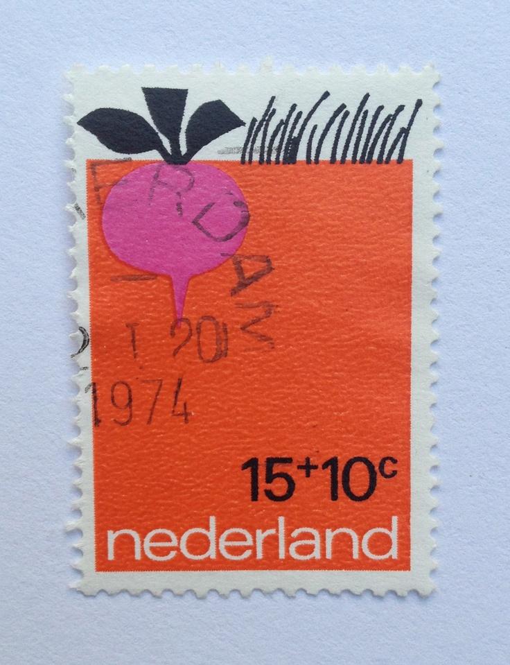 1971 | Babs van Wely | rood, roze, zwart | radijs