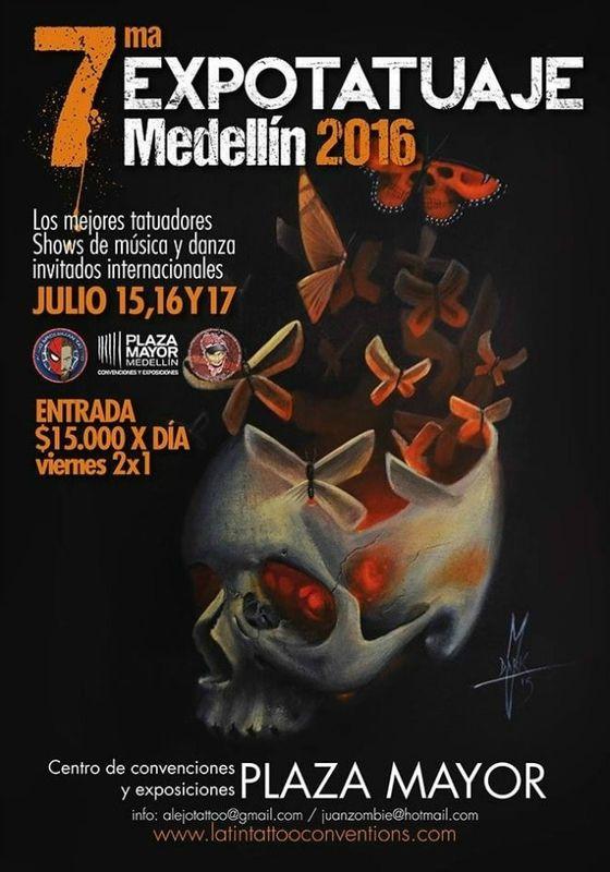 Expotatuaje Medellin  15 - 17 Juillet 2016