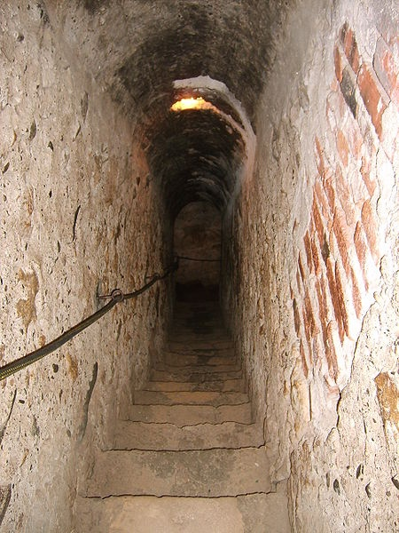 Bran Castle - Romania - Secret passage inside the castle, connecting the first and third floors.
