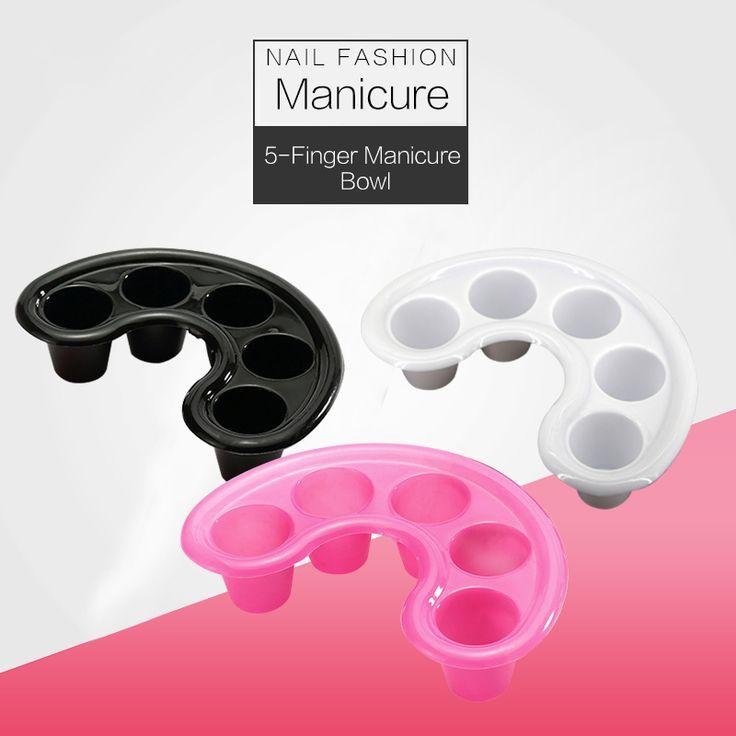 BlinkingNails Spa Manicure Bowls 5 fingers Soak Bowl for Callus Remover Plastic Bowl to Soft Gel Nails Tools 3 Colors Optional