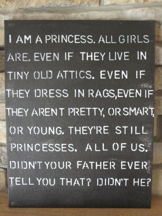 Princess: Great Movie, Princesses Quotes, Little Girls Room, Littleprincess, Growing Up, A Little Princesses, Book, Favorite Quotes, Favorite Movie