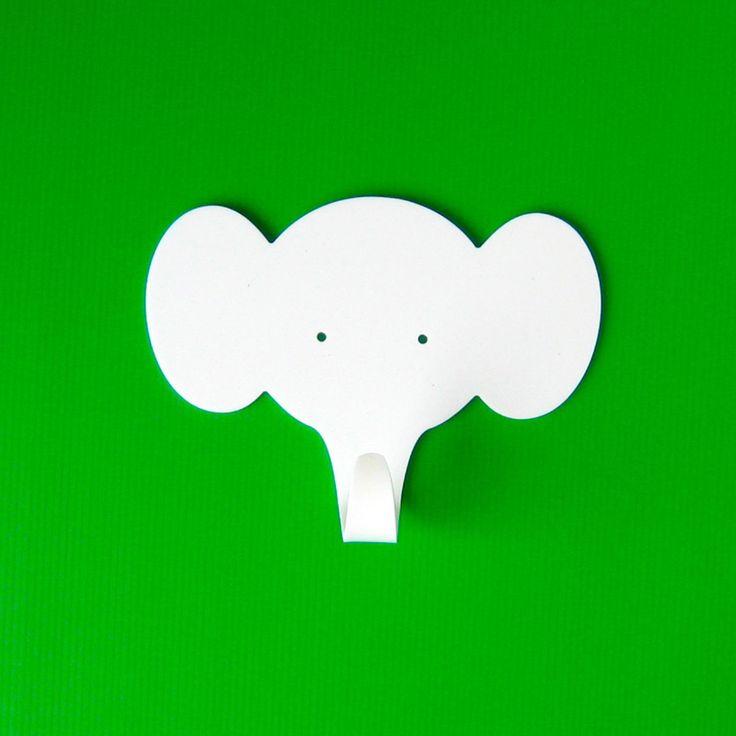Elephant Wall Hook by Objectify #Hook #Elephant