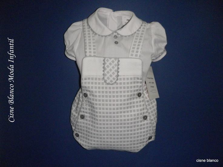 Conjunto blusa y ranita para niño de 1 a 12 meses. Creciendo con estilo.