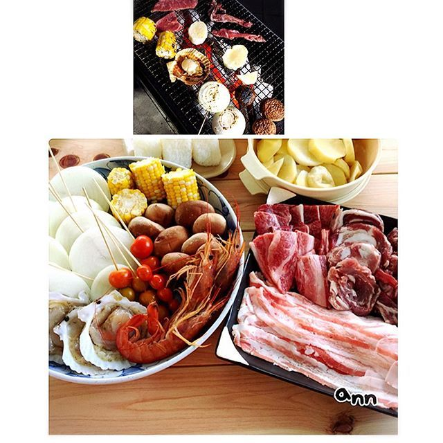 昨晩はちょっと早い年1夏の行事、お家バーベキュー🍗🍖ニクゥ(「🍖・ω・)「🍖 結婚式カタログギフトで選んだお肉の配達日をあわせて、お肉てんこ盛り😋 義母向けの、エビ帆立椎茸ととうもろこし購入で、しめて、1020円バーベキューなり~(*´︶`*)❤︎ (アルコール料金???) ❁❀✿✾❀✿❁❀✿✾❁❀✿✾❁❀✿✾❁❀✿✾❁❀❁❀✿✾❁❀✿✾ #バーベキュー#お家バーベキュー #牛タン #カルビ #豚ロール #器 #器好き #家ご飯 #家飯 #おうちごはん #食卓 #食 #献立 #献立日記 #料理写真 #料理 #肉 #肉好き #肉料理 #ばんごはん #晩ごはん #夕食 #夕飯 #夕ごはん