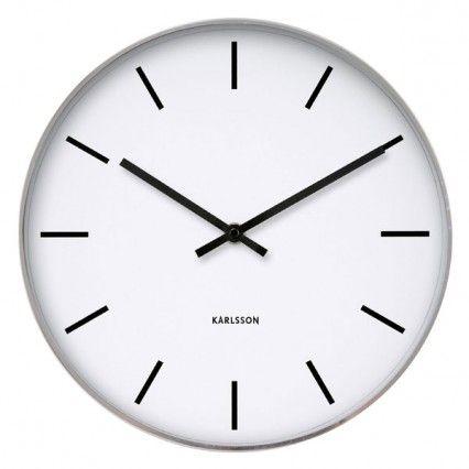 Karlsson Station Classic Wall Clock - plain white clock