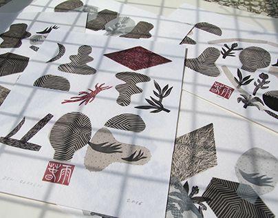 "Check out new work on my @Behance portfolio: ""Zen Garden   linocut monotype prints"" http://be.net/gallery/38234031/Zen-Garden-linocut-monotype-prints"