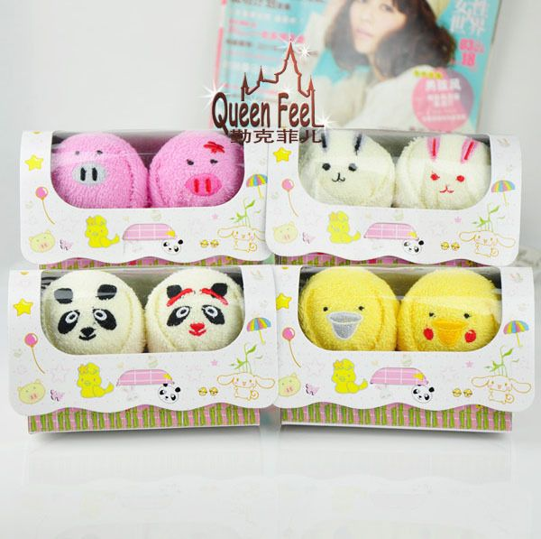 Christmas Gifts-Creative Animal Lover Pure Cotton Towel In Box Size:15*7.5*8.5cm #QueenFeel