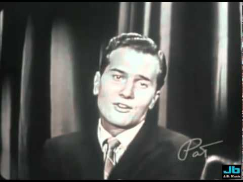 """Pat Boone - """"Love Letters In The Sand"""" .. 1957 {Oct. 3rd} Pat Boone performing this song on the premier of his ABC-TV program 'The Pat Boone Chevy Showroom'."""