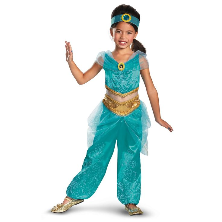 Disney Jasmine Deluxe Sparkle Toddler / Child Costume