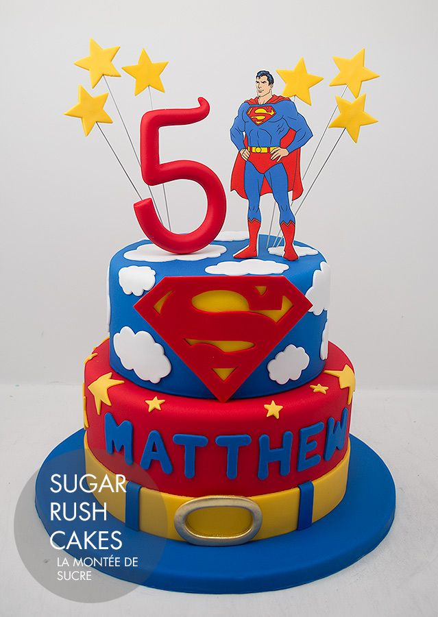 Superman themed cake! - For all your cake decorating supplies, please visit craftcompany.co.uk