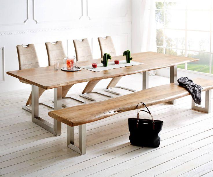 die besten 25+ esstisch akazie ideen auf pinterest | massivholz ... - Massivholzmobel Ideen Esstisch Baumstamm
