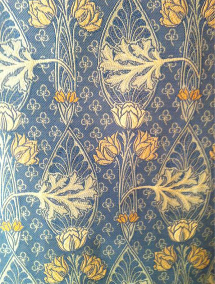 Kentchurch Scudamore Blue Medieval tapestry, Butterfly