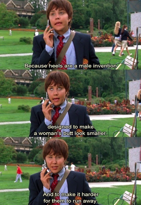 This will forever always be one of my favorite movies. She's the man.