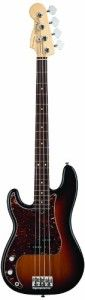Fender American Standard Precision Bass Guitar ,Left Handed,  Rosewood Fingerboard, 3-Color Sunburst