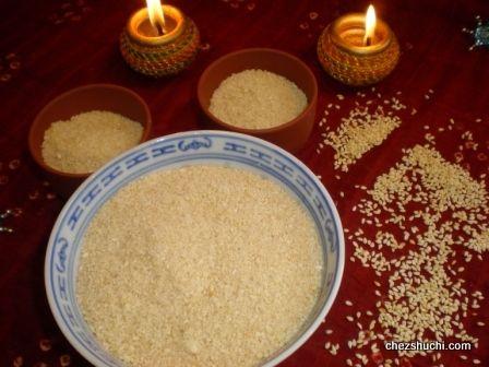 Tilkut ( ground sesame dessert)- A traditional Indian sweet for Sakat Chauth!!